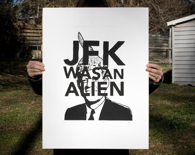 Featured listing image: JFK // screen print