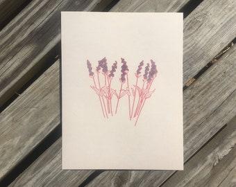 lavender // riso print