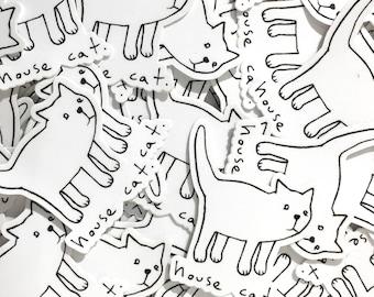 house cat // sticker