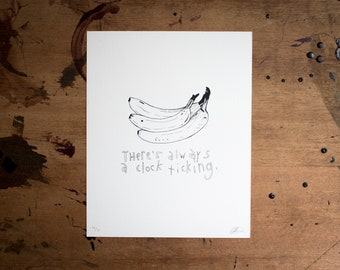 bananas // screen print