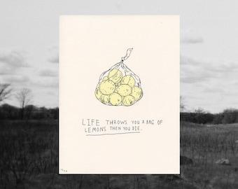 lemons // riso print