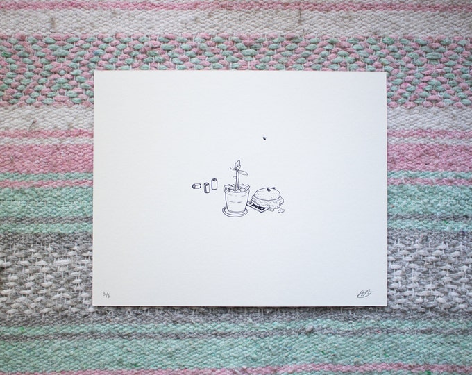 Featured listing image: still life two // screen print