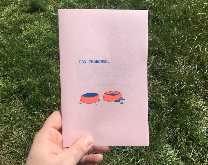 Featured listing image: dog thoughts // zine