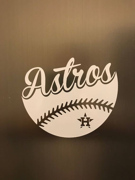 Houston astros baseball vinyl decal car window bumper
