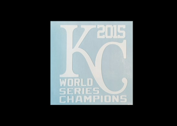 Kansas city royals vinyl decal kc 2015 world series
