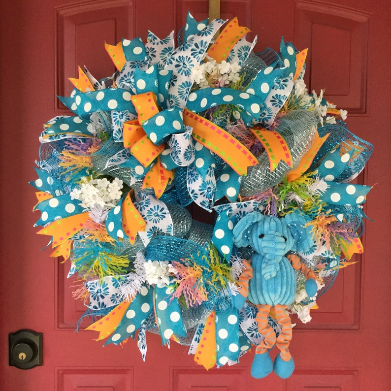 Welcome Baby Boy Hospital Door Wreath Baby Baby Door Wreath Etsy