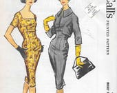 Vintage 1950s McCall 39 s Sewing Pattern 4831- Misses 39 Sheath Dress and Jacket size 12 bust 32 uncut FF
