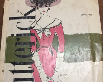 Vintage 1950s Butterick Store Pattern Catalog - Spring 1956