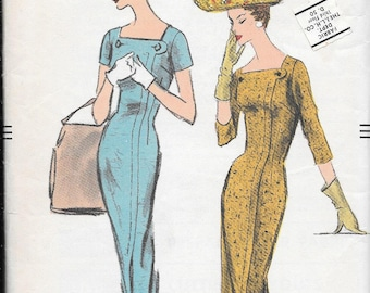 Vintage 1950s Vogue Sewing Pattern 8989 - Misses' One Piece Dress size 14 bust 34 uncut FF