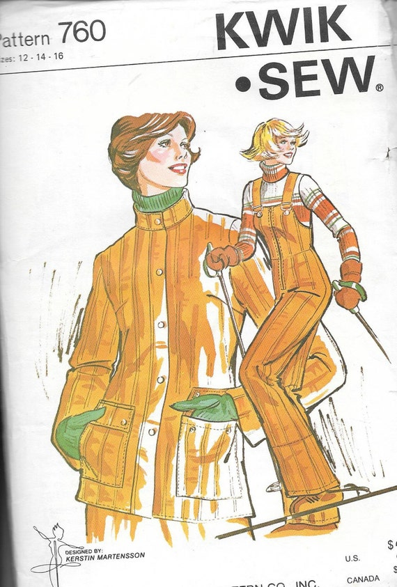 Vintage Kwik Sew Schnittmuster 759 Damen Skianzug insgesamt