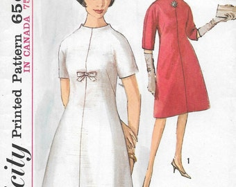 Vintage 1960s Simplicity Sewing Pattern 5233- Misses' Dress size 14 bust 34 uncut
