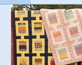 """Flip A Coin, Quilt Pattern for use with Charm Pack, 5"""" Charms. PDF VERSION."""