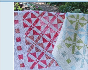 Modern Fortune, quilt pattern in baby, twin, queen and king sizes. PDF VERSION.