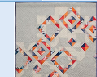Diamond Dust -- Quilt Pattern in Table Runner, Throw and Queen size options, PRINT PATTERN