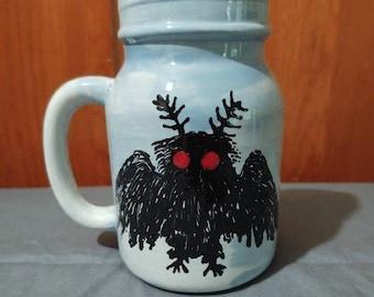 Mothman Jar Mug, Cryptozoology/Cryptid Mug