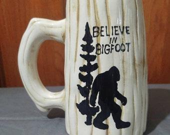Bigfoot Wood Grained  Mug, Cryptozoology/Cryptid Mug