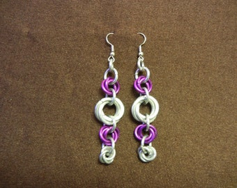 Falling Roses Chainmaille Earrings