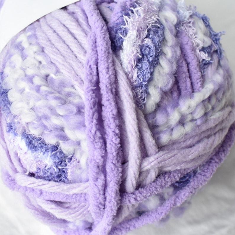 Pop Goes Purple Bernat Baby Bundle Yarn