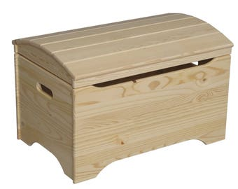 Ordinaire Treasure Chest Toy Box, Wooden Toy Chest, Unfinished Wood Toy Box, DIY  Furniture