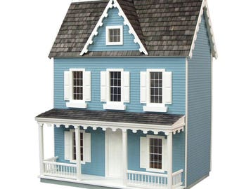 Dollhouse Kit, Vermont Farmhouse Jr. Unfinished Dollhouse Kit