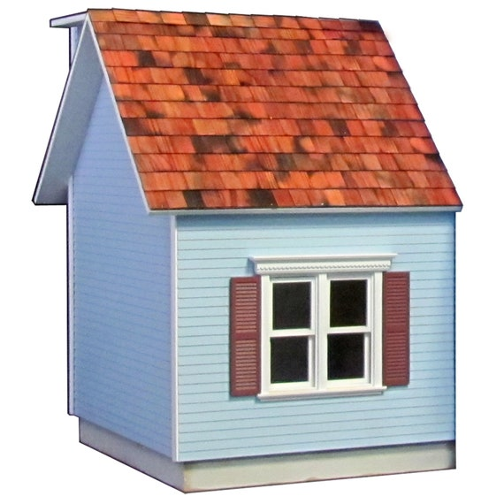 Colonial Dollhouse Addition Kit with Double Colonial Window Dollhouse Addition Kit