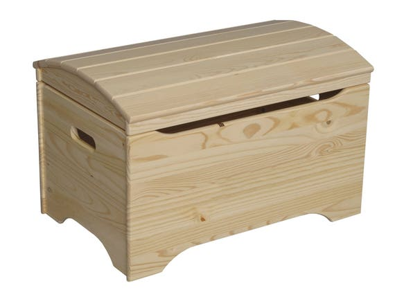 Treasure Chest Toy Box Wooden Toy Chest Unfinished Wood Toy Etsy