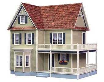 Dollhouse Kit - Victoria's Farmhouse Unfinished Dollhouse Kit on Sale Now!