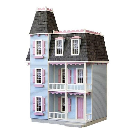 Dollhouse Kit Diy Dollhouse Victorian Alison Jr Unfinished Etsy