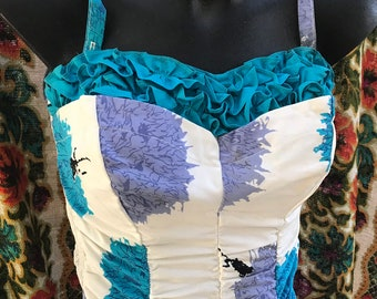 09b60f152d Pinup perfection catalina vintage floral VLV swimsuit