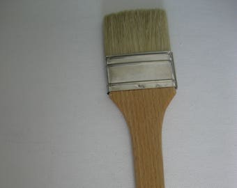 Tobgi --Artist Varnish brush white bristle long handle 60 mm Made in Italy