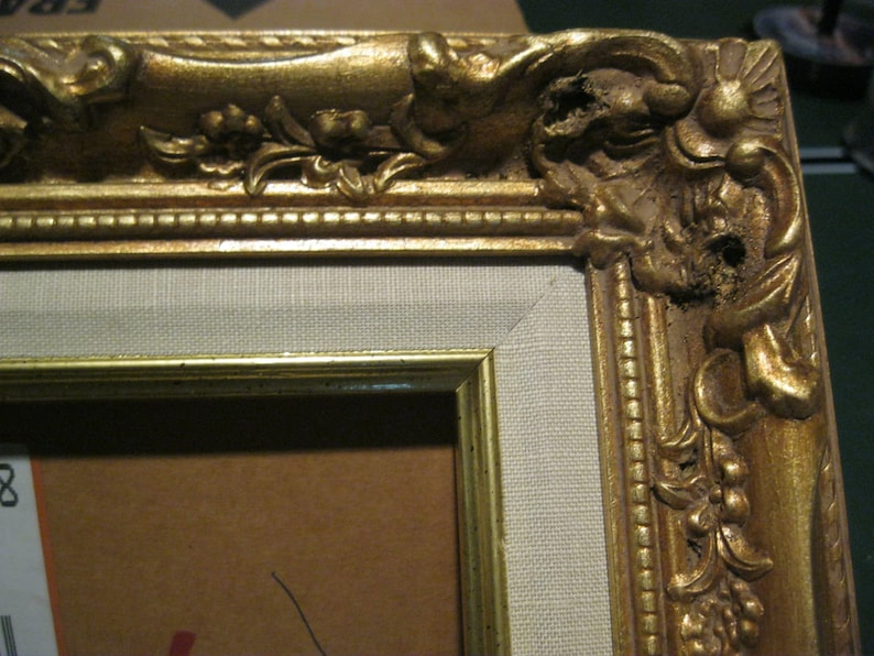 Hy-Jo Wooden frame  OrnateBeaded Gold Leaf with Liner 16x20/'/' inches