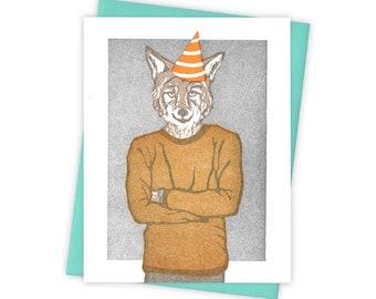 Birthday Card I Love Coyotes Greeting Card