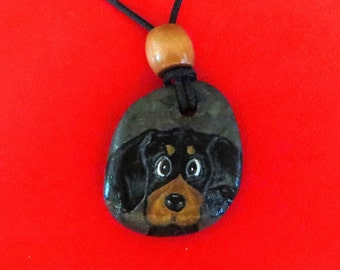 Hand Painted Whimsical Dachshund Pendant...FREE Shipping!