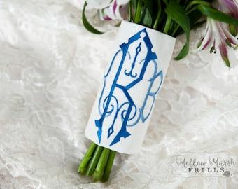 Custom Monogrammed Bridal Bouquet Wrap