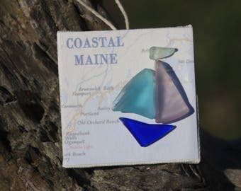 Maine Coast Sea Glass Ornament