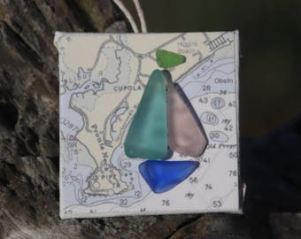 Maine Sea Glass Ornament