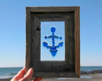 Nautical, Anchor, Sea Glass, Beach Glass, Window Art