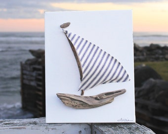 Driftwood Sailboat, Coastal Nautical Decor