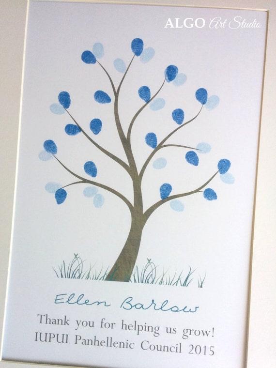 Teachers Gift Diy Fingerprint Tree Classroom Gift Thank You Etsy