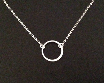 Eternity circle ring necklace