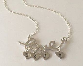 Love pendant with hearts