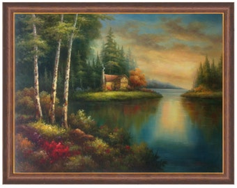 Kinkade Canvas Etsy