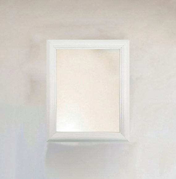 White Wash Wood Grain Framed Wall Mirror size 8x10 11x14 16x20 | Etsy