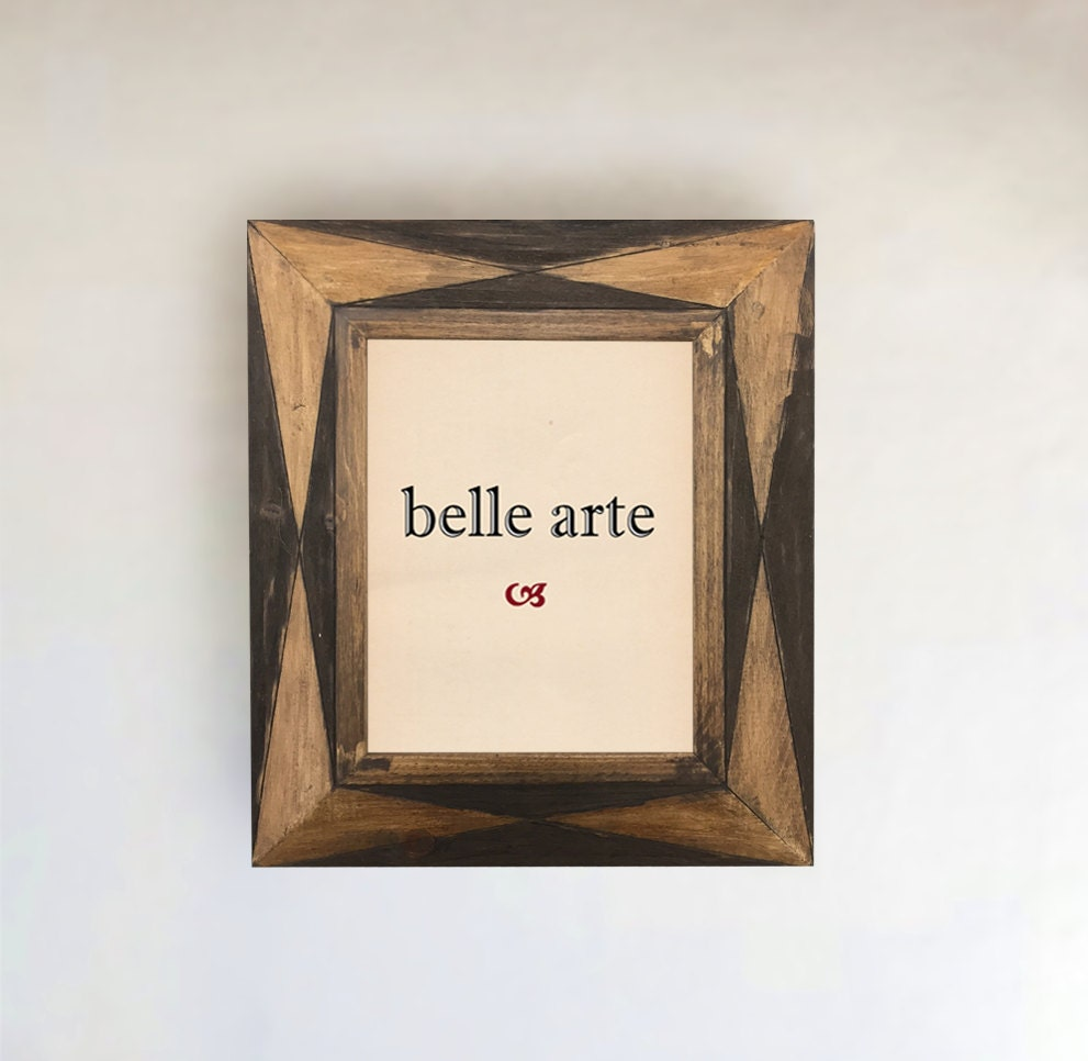 Rustic Bohemian Geometric Wood Picture Frame - Inside Sizes! (8\