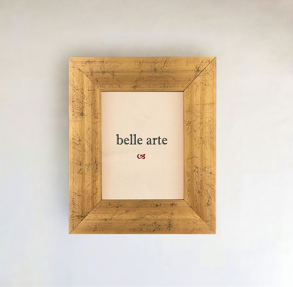 Sizes 4x6 5x7 8x10 11x14 12x16 16x20 20x24 24x36 Gold and Pale Grey Italianate Picture Frame