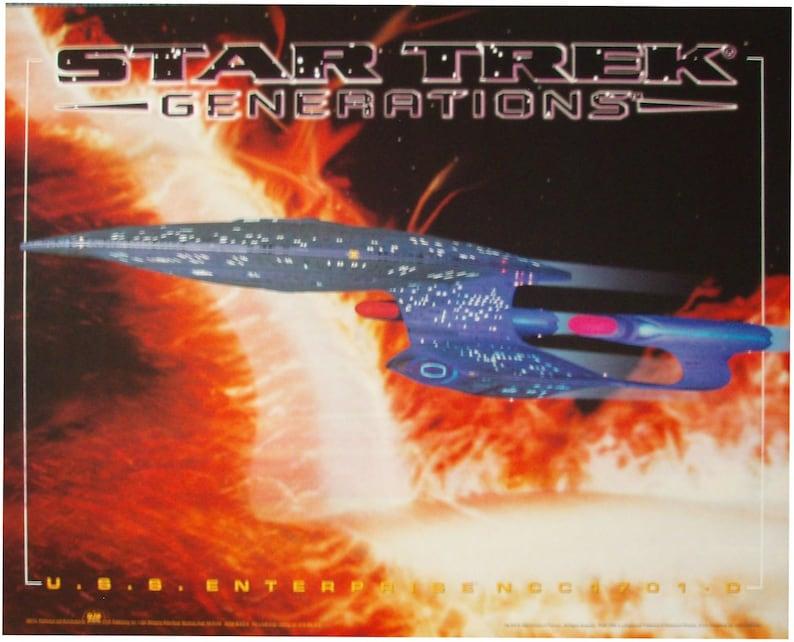 90s Star Trek Poster Vintage Collectible 90s Computer Graphics Art Poster