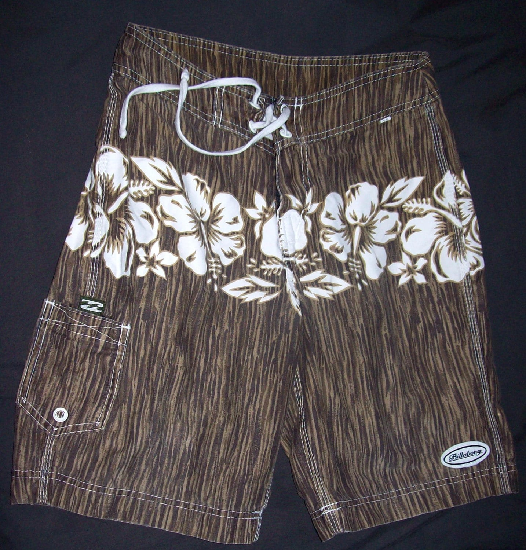 Billabong Boys Toddler 3T Board Shorts Black Gray Stripe All Day OG NWT