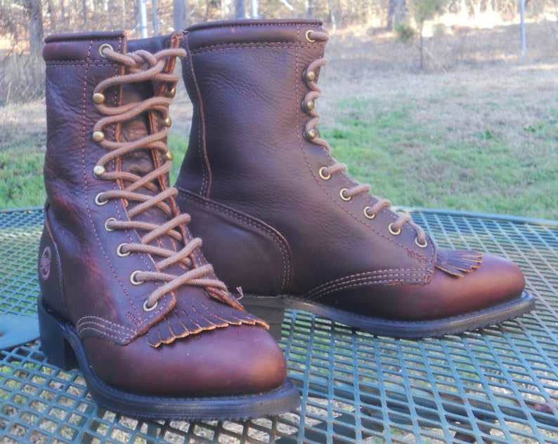 Vintage DOUBLE H HH Oiled Leather