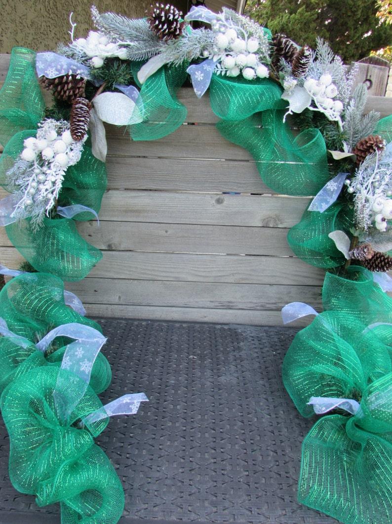 10 Christmas Garland Greenery Pine Cone Garland Snow Berry Garland Christmas Door Decor Christmas Mantel Deco Mesh Garland Winter Garland