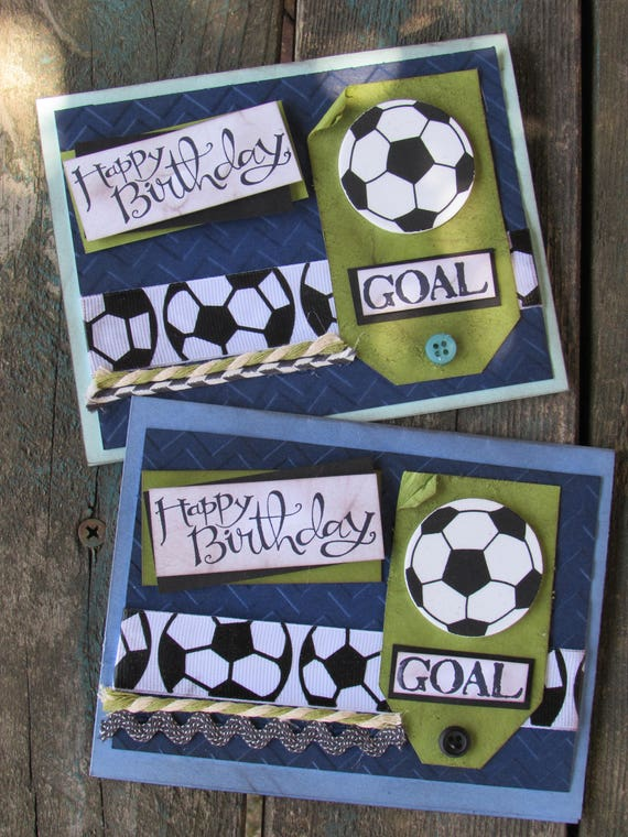 Birthday Soccer Cards Kids Birthday Cards Boy Girl Soccer Etsy